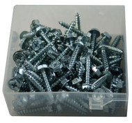 """1/4"""" x 1"""" Conical Anchor Kit with 10 x 1"""" Hex Washer Head Screws (AK-14H)"""