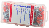 "1/4"" x 1"" Nylon Anchor Kit with 10 x 1"" Combo Head Screws- Orange (AK-14L)"