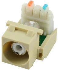 Ivory RCA to 110 IDC Keystone Module w/ White Insert (CA-2140W-IV)