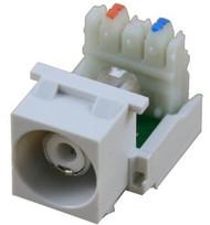 White RCA to 110 IDC Keystone Module w/ White Insert (CA-2140W-WH)