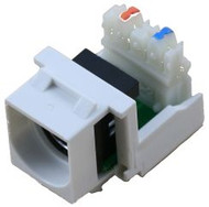 White S-Video to 110 IDC Keystone Module (CA-2141WH)