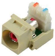 Ivory RCA to 110 IDC Keystone Module w/ Red Insert (CA-2140R-IV)