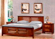 Dobbin Bed in Dark Walnut - Queen