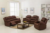 Veria 6 Seater Recliner in Dark Brown - OUT OF STOCK