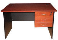 Cosmo Desk with 3 Drawer 1500*750 in Red Apple - OUT OF STOCK