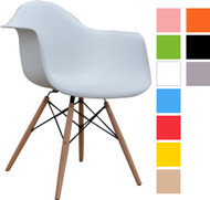 Retro Eames Style Bistro Chair With Arms in Various Colours