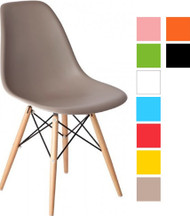 Eames Style Bistro Chair Without Arms in Various Colours