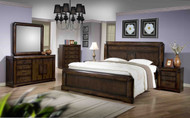 Nina Queen Bed with 2 Bedside Cabinets