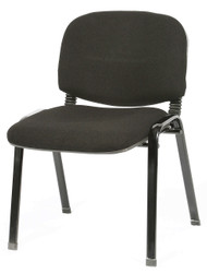 Tosca Visitor Chair In Black Fabric D071EX