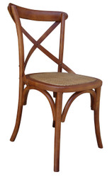 Allan Bistro Chair in Brown