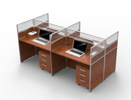 London 4 Part Workstation 3.0m*1.5m