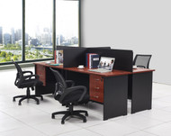 Cosmo 4 Part Workstation 2.4m*1.5m
