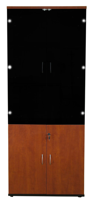 Cosmo 5t Woodglass Door Cabinet In Red Apple Odds Ends Kenya