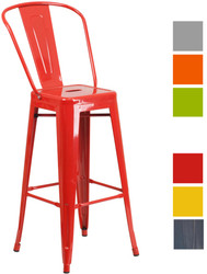 Bistro Metal Bar Chair in Various Colours - OUT OF STOCK