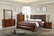 Antonio Queen Bed with 2 Bedside Cabinets
