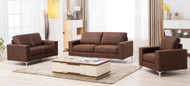 Kozani 7 Seater Sofa Set in Mustang - OUT OF STOCK