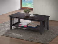 Mission Coffee Table in Cappuccino - OUT OF STOCK
