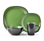 Thomson Pottery 16 Piece Dinnerware Set - Bali Green