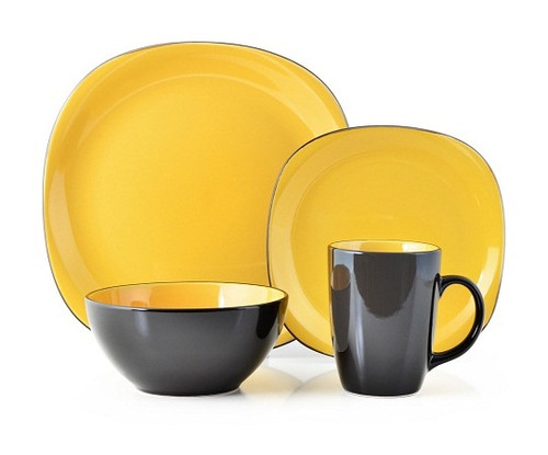 Thomson Pottery 16 Piece Dinnerware Set - Bali Yellow - Odds & Ends ...