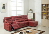Edessa 4 Seater Sectional Recliner in Red