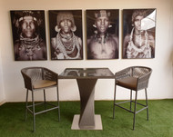 Charming Square Bar Table
