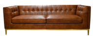 Collier Sofa In Leather (Vegetable Brown)