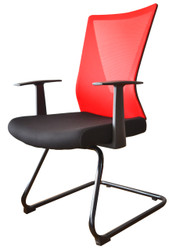 Visitor Chair HT-7068DEX in Red
