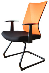 Visitor Chair HT-7068DEX in Orange