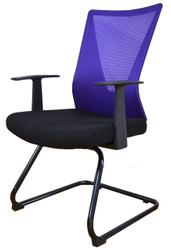 Visitor Chair HT-7068DEX in Purple