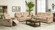 Edessa 7 Seater Recliner in Creme Brulee - OUT OF STOCK