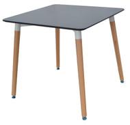 Retro Bistro Table in Black 0.8m x 0.8m