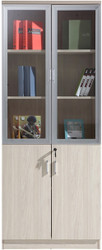 Staten 5T Glass Door Filing Cupboard in Elm