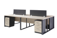Staten 4 Part Work Station 2.8m*1.4m