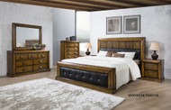 Benson Queen Bed with 2 Bedside Cabinets