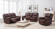 Jersey 7 Seater Recliner in Brown