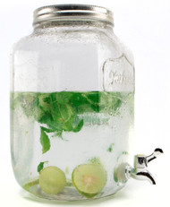 Mason Jar Glass Water Dispenser 8L