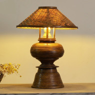Palm Tree Table Lamp In Bamboo