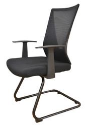 Visitors Chair HT7068DEX in Full Black