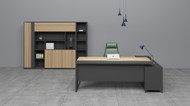 Big Apple Managers Desk 1.8m In Elm
