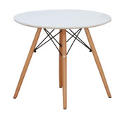 Retro Bistro Round Coffee Stool in White - OUT OF STOCK