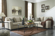 Calicho 7 Seater Sofa Set in Ecru Fabric