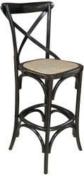 Allan Bar Chair in Black