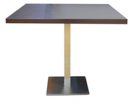 Ozone Conference Table On Brushed Steel Legs - 0.9m