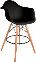 Retro Eames Style Bar Chair With Arms in Various Colours