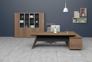 Brooklyn Executive Desk In Brown Oak