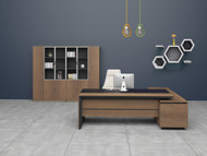 Brooklyn Managers Desk In Brown Oak