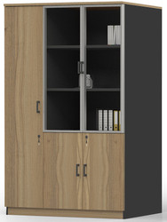 Brooklyn 3 Doors LHS/RHS Cabinet in Brown Oak