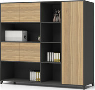 Brooklyn Modern Cabinet in Brown Oak