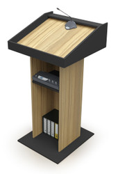 Brooklyn Podium in Brown Oak