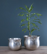 Set Of 2pcs Pot Planters In Nickel (PL1012 )